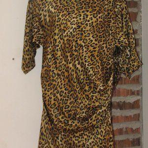 Roberto Cavelli Animal Print Silk Dress Lined 46